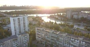 Bâtiments de région de dortoir dans Kyiv clips vidéos