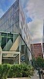 Bâtiments de rotation de Manchester de champ Images libres de droits