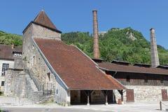 Bâtiments de salines dans Salins-Les-Bains Photos stock