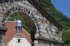 Bâtiments de salines dans Salins-Les-Bains Photos libres de droits