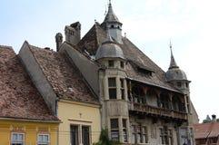 Bâtiments de Transylvanian Photo stock