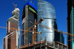 Bâtiments de ville Image libre de droits