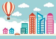 Bâtiments de ville illustration de vecteur