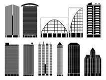 Bâtiments de ville Photographie stock