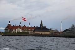 Bâtiments de ville de Copenhague Danemark Image libre de droits