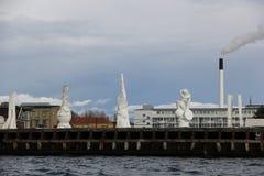 Bâtiments de ville de Copenhague Danemark Photos stock
