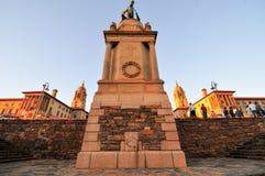 Bâtiments des syndicats, Pretoria au coucher du soleil Image stock