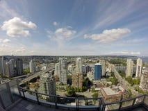Bâtiments du centre Vancouver Bâtiments en verre photo stock
