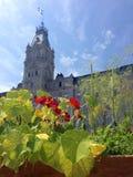 Bâtiments du parlement de Québec et jardins comestibles, Canada Photo libre de droits