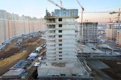 Bâtiments en construction Images libres de droits