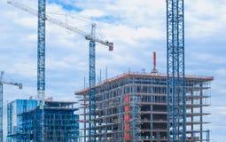 Bâtiments en construction Photographie stock libre de droits