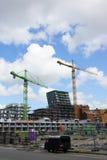Bâtiments en construction Photos stock