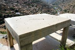 Bâtiments en construction dans le village traditionnel de Kastro, île de Sifnos, Grèce Photographie stock