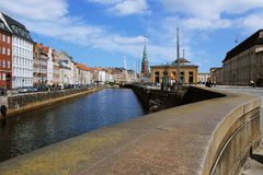 Bâtiments et éléments, Danemark Photos libres de droits