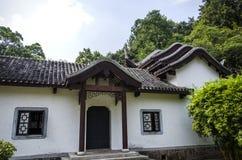 Bâtiments et bambou antiques Images libres de droits