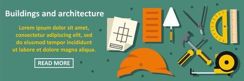 Bâtiments et concept horizontal de bannière d'architecture Photographie stock