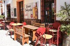 Bâtiments et maisons typiques dans Algarve, Portugal Photos libres de droits