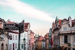 Bâtiments et rues de Prague, République Tchèque image libre de droits