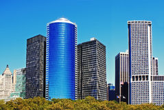 Bâtiments financiers de secteur de Manhattan Photographie stock