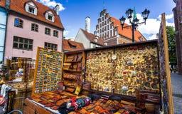Bâtiments historiques à vieux Riga images stock