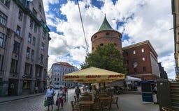 Bâtiments historiques à vieux Riga photographie stock