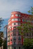 Bâtiments historiques avec des avants de dentelle de Madrid photographie stock libre de droits