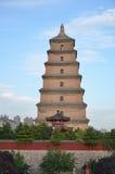 Bâtiments historiques bouddhistes de grande pagoda sauvage d'oie de Xi'an Images libres de droits