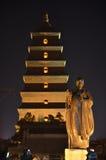 Bâtiments historiques bouddhistes de grande pagoda sauvage d'oie de Xi'an Photos libres de droits