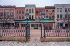 Bâtiments historiques colorés à Springfield, l'Illinois image libre de droits