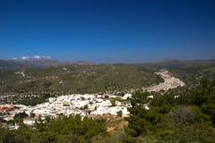 Bâtiments historiques d'architecture d'Asklipeiou Rhodos Grèce Photo stock
