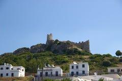 Bâtiments historiques d'architecture de Rhodos Grèce de château d'Asklipeiou Photos libres de droits