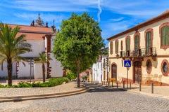 Bâtiments historiques dans la vieille ville de Silves Images stock
