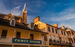 Bâtiments historiques dans le ferry du harpiste, la Virginie Occidentale photo libre de droits