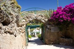 Bâtiments historiques de Kalithea Rhodos Grèce de station thermale Photos stock