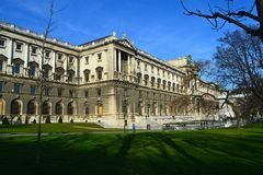 Bâtiments historiques de Vienne Photos stock