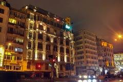 Bâtiments historiques et modernes Beyoglu Istanbul de Sishane Images stock