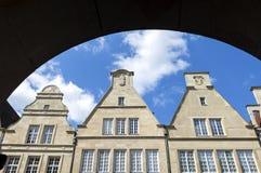 Bâtiments historiques Prinzipalmarkt, nster de plan rapproché de ¼ de MÃ Photo libre de droits