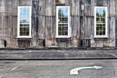 Bâtiments industriels abandonnés Photo stock