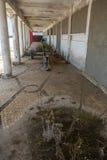 Bâtiments industriels abandonnés du Portugal porto Photo stock