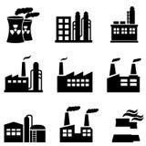 Bâtiments industriels, centrales et usine illustration stock