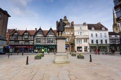 Bâtiments médiévaux Shrewsbury Angleterre images stock