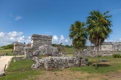 Bâtiments maya dans Tulum, Mexique Photos stock