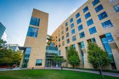 Bâtiments modernes à l'université du nord-est, à Boston, Massachu Images stock