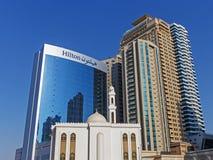 Bâtiments modernes au Charjah EAU Photos stock