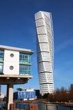 Bâtiments modernes dans le malmö Suède Photographie stock libre de droits