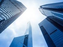Bâtiments modernes de skyscarper de bureau Photographie stock libre de droits