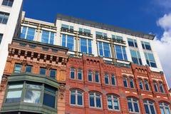 Bâtiments modernes et architecture historique dans le Washington DC du centre, Etats-Unis Image stock