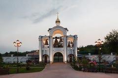 Bâtiments orthodoxes de temple Photographie stock