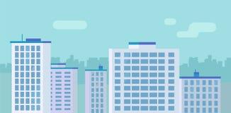 Bâtiments plats de gratte-ciel de ville Image stock