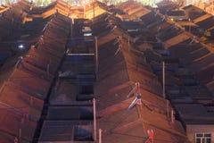 Bâtiments résidentiels et allées traditionnels au ¼ Œ de nightï en Chine photographie stock
